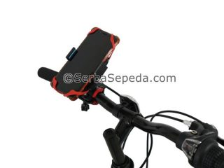 Holder sepeda handphone double lock 2-background putih