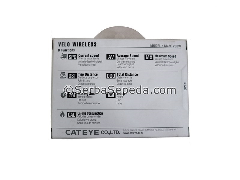 Cateye Speedometer Velo Wireless, Nirkabel analog